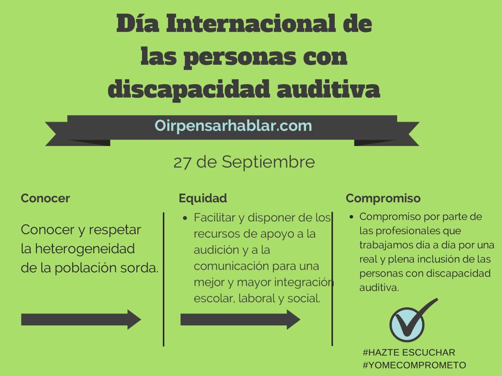 Día Internacional de las personas con discapacidad auditiva