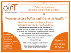 Taller para padres: «Impacto de la pérdida auditiva en la familia»