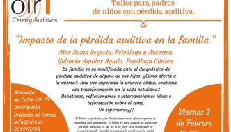 """Taller para padres: """"Impacto de la pérdida auditiva en la familia"""""""