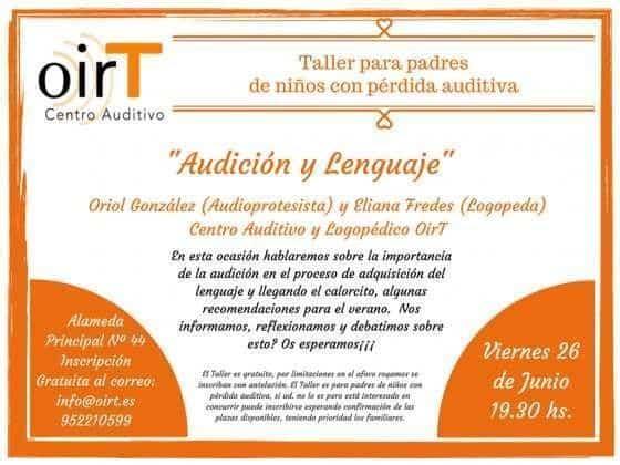 Taller para padres de niños con pérdida auditiva: Audición y Lenguaje