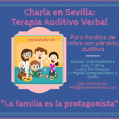 Terapia Auditivo Verbal en Sevilla charla informativa